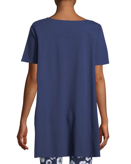 Image 2 of 2: Joan Vass Petite Short-Sleeve Scoop-Neck Tunic