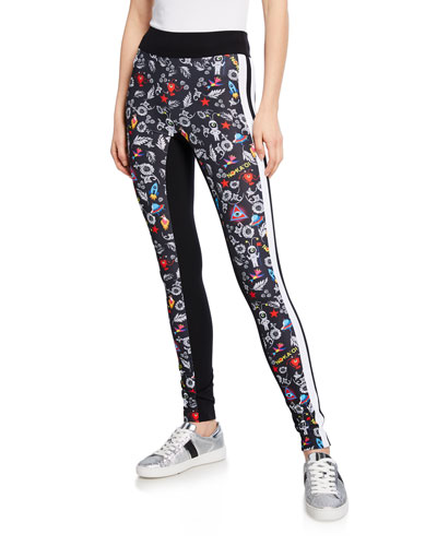 Stellar Printed High-Rise Leggings
