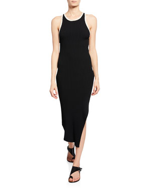 45028080112 A.L.C. Annina Ribbed Tank Dress