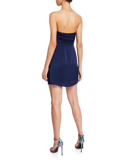 Ramy Brook Genesis Strapless Draped Mini Dress