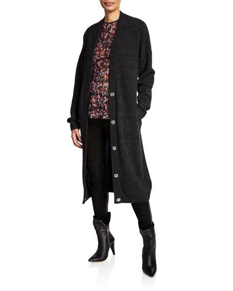 Iro Ashland Long Button-Front Cardigan