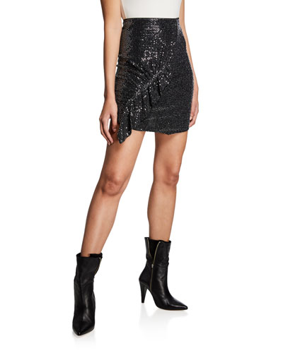 Lilie Sequined Short Skirt