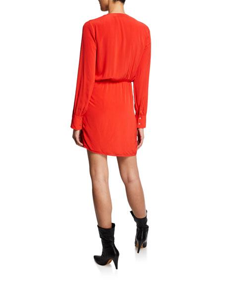 Iro Ophie Long-Sleeve Wrap Dress