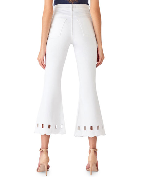 Image 2 of 2: DL1961 Premium Denim Wallace High-Rise Vintage Crop Flare Jeans