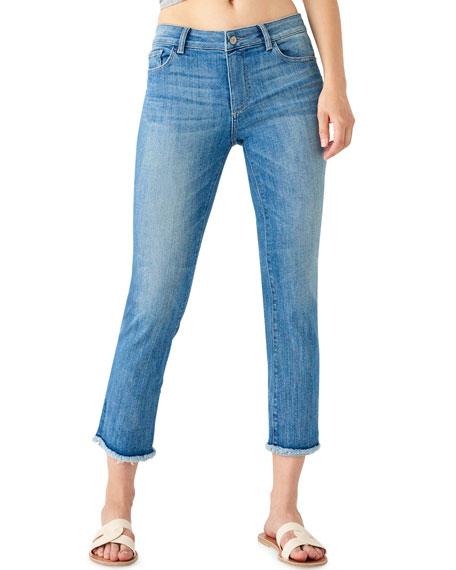 DL1961 Premium Denim Mara High-Rise Straight Cropped Jeans