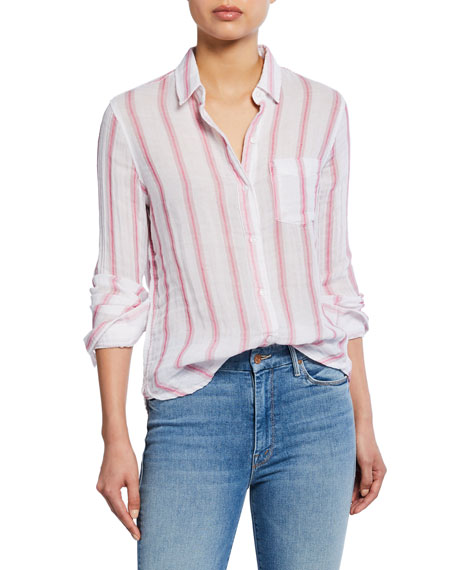 Rails Reagan Striped Button-Down Cotton Shirt