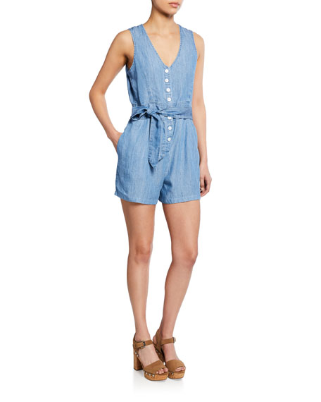 Rails Scarlett Button-Front Sleeveless Romper