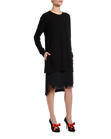 No. 21 Combo Slip Sweater Dress