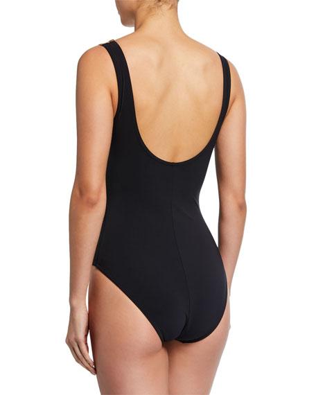 Karla Colletto Osa Surplice-Neck Printed One-Piece Swimsuit