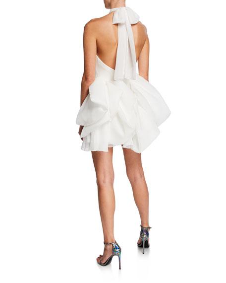 Jovani Halter Mini Dress with Bubble Skirt