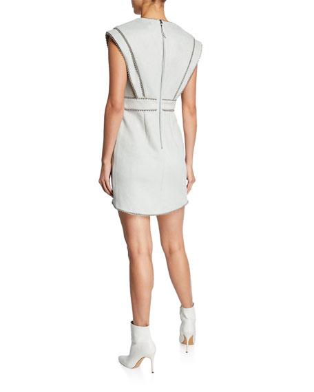Elliatt Baroque Studded Faux-Suede Dress