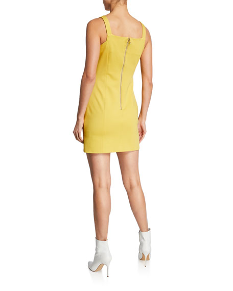 Elliatt Quando Buckle-Strap Mini Sheath Dress
