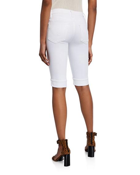 Hudson Amelia Cuffed Denim Bermuda Shorts