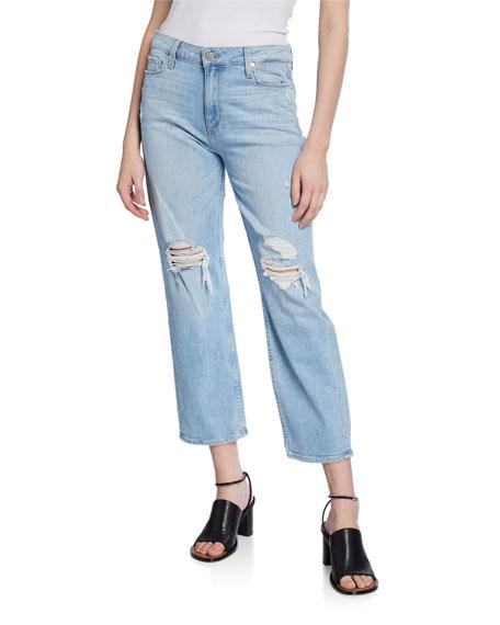 PAIGE Noella Straight Caballo Distressed Jeans