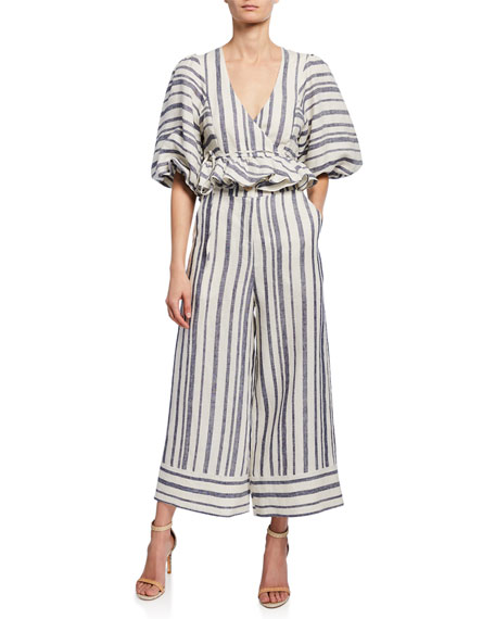 Shona Joy Bautista Striped Linen Culottes