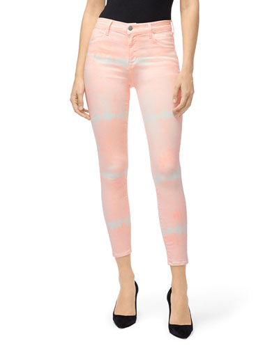 Alana High-Rise Cropped Tie-Dye Jeans
