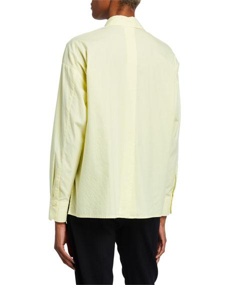 Vince Button-Down Long-Sleeve Boxy Shirt