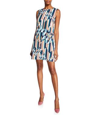 fd89536b4f M Missoni Broken Stripe Sleeveless Mini Dress