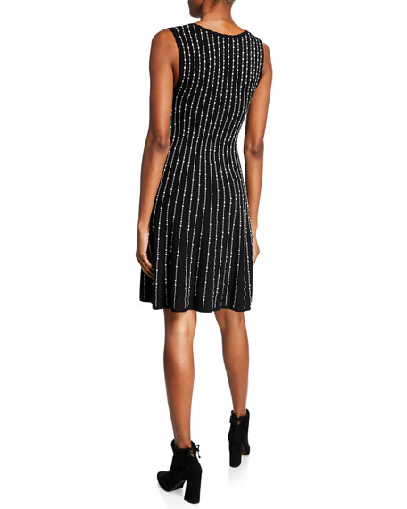 M Missoni Embellished Scoop-Neck Sleeveless A-Line Dress