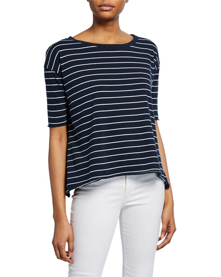 Frank & Eileen Tee Lab Core Striped Half-Sleeve Cotton Tee