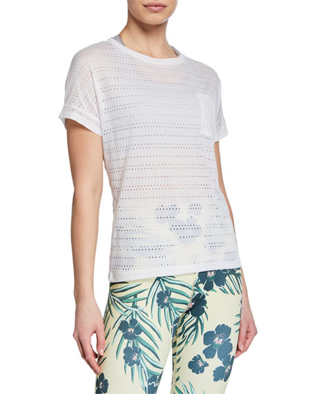 Beyond Yoga Off Cuff Perforated Short-Sleeve Pocket Tee