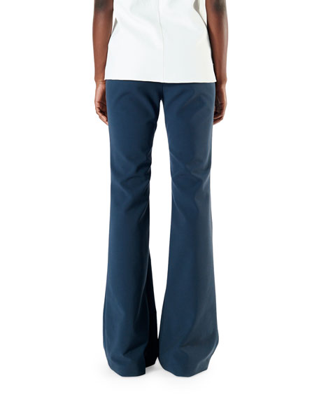 Tibi Anson Stretch Slim Boot-Cut Pants