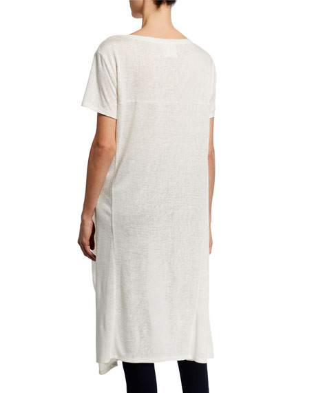 DUBGEE by Whoopi Boat-Neck Short-Sleeve High-Low Slub Tee