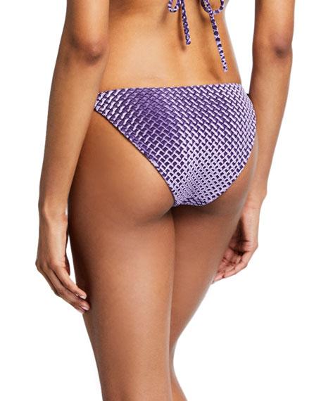 Onia Katie Velvet Side-Tie Bikini Bottom