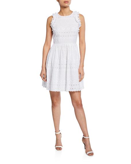 kate spade new york eyelet sleeveless mini cotton dress