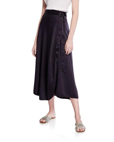 Forte Forte Silk Cloque Side-Tie Midi Skirt