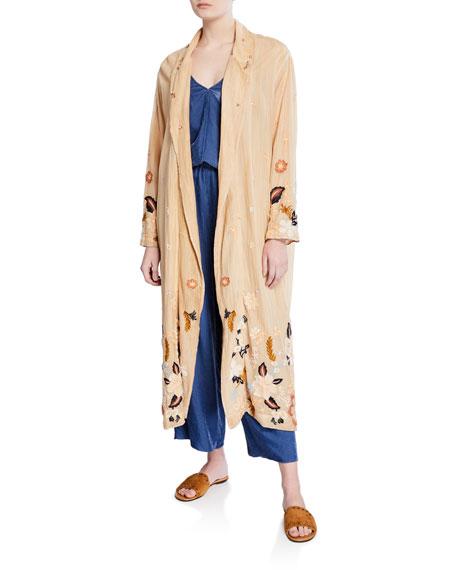 Forte Forte Fleur de Camargue Floral Embroidered Kimono