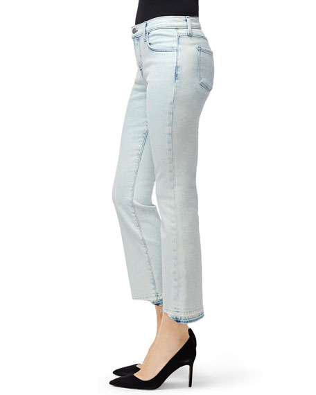 J Brand Selena Mid-Rise Crop Boot-Cut Jeans