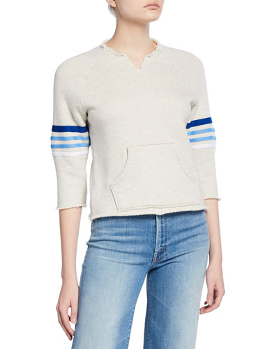 The Square Tear Frayed Pullover Sweater