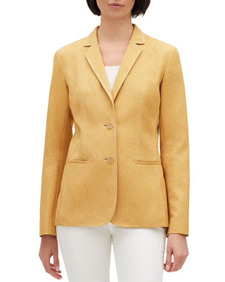 Image 1 of 3: Briallen Brilliance Cloth Two-Button Blazer