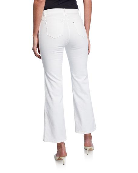 Lafayette 148 New York Mercer Cropped Flare Denim Jeans