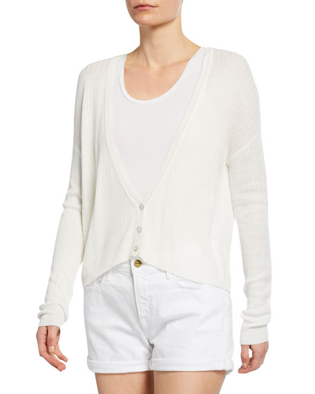 Cupcakes and Cashmere Feretti V-Neck Button-Front Cardigan
