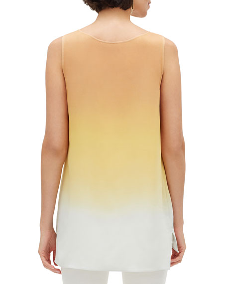 Lafayette 148 New York Ruthie Prism Ombre Sleeveless Silk Blouse