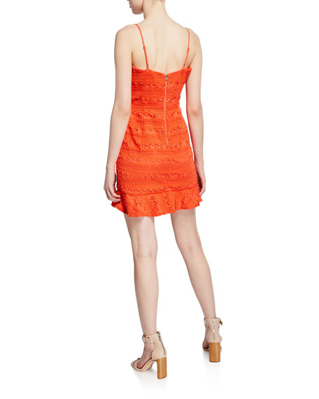 Bardot Mariella Spaghetti-Strap Mini Lace Dress
