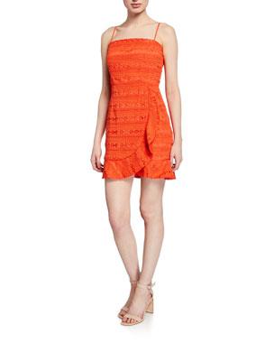 87ec8b12 Bardot Mariella Spaghetti-Strap Mini Lace Dress