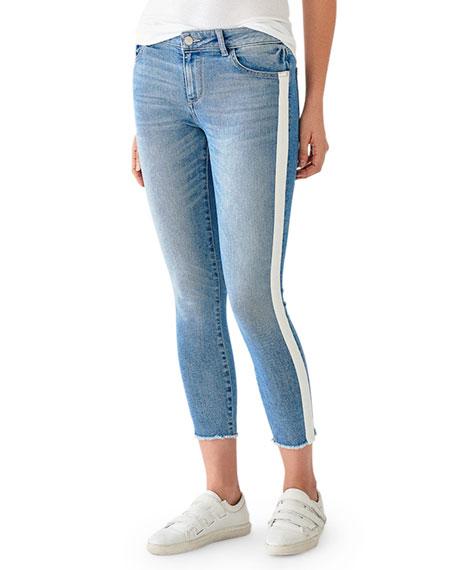 DL1961 Premium Denim Florence Crop Mid-Rise Skinny with Racer Stripes