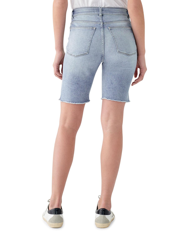 836fbd60ed DL1961 Premium Denim Jerry High-Rise Vintage Slim Bermuda Shorts | Neiman  Marcus