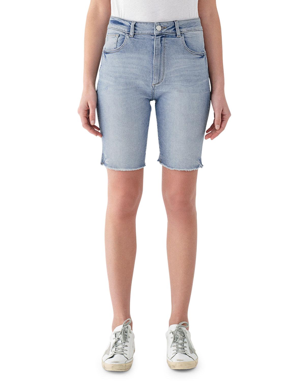 eaf95ced22 DL1961 Premium Denim Jerry High-Rise Vintage Slim Bermuda Shorts ...