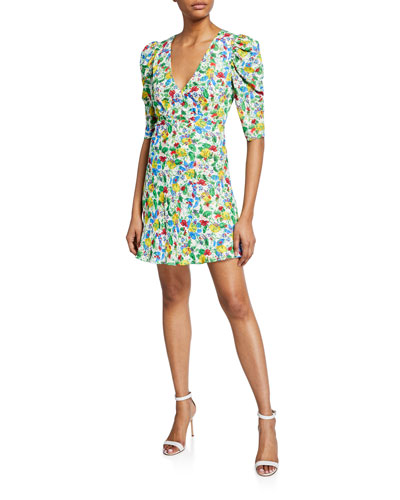 Colette Floral-Print Mini Dress