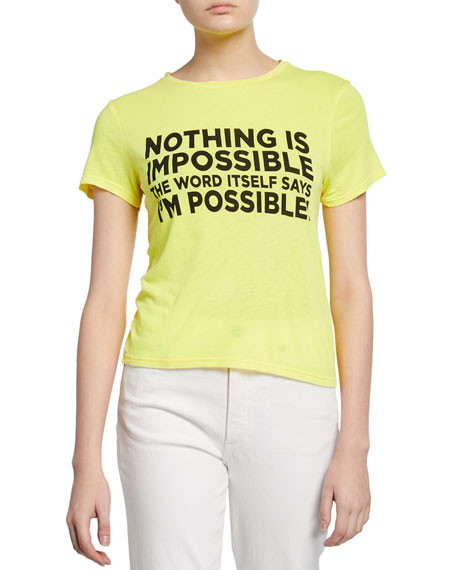 """Alice + Olivia Cicely Classic """"I'm Possible"""" Tee"""
