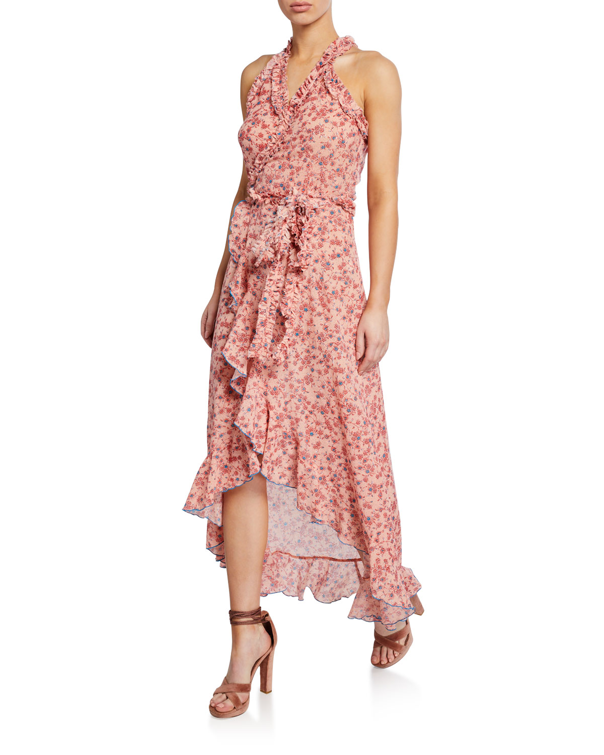 d6cf55f453 Poupette St Barth Tamara Ruffled Long Dress | Neiman Marcus
