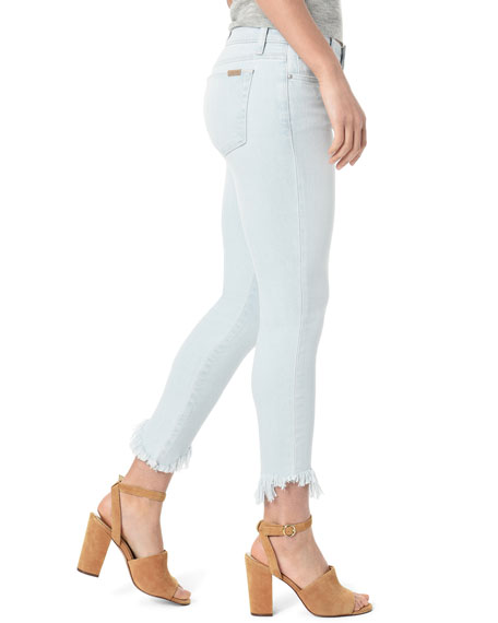 Joe's Jeans The Icon Crop Chewed-Hem Skinny Jeans