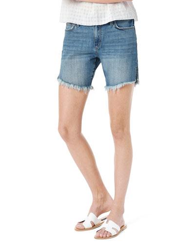 The 7 Bermuda Shorts with Frayed Hem