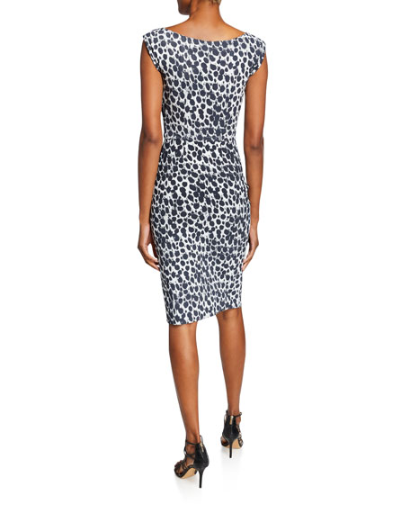 Chiara Boni La Petite Robe Egea Printed Cap-Sleeve Cocktail Dress