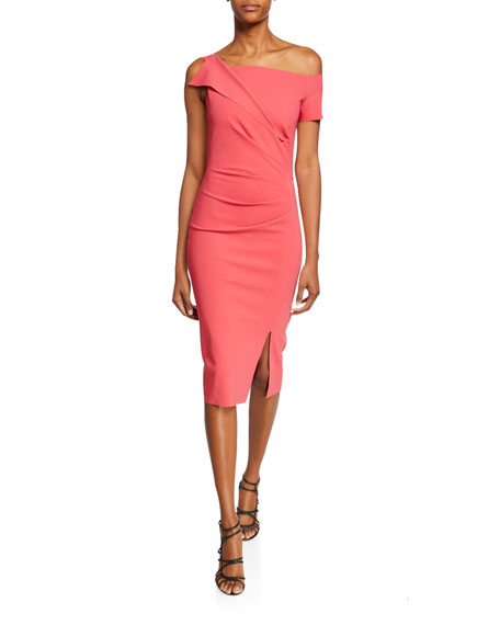 Chiara Boni La Petite Robe Affie One-Shoulder Asymmetric Cocktail Dress