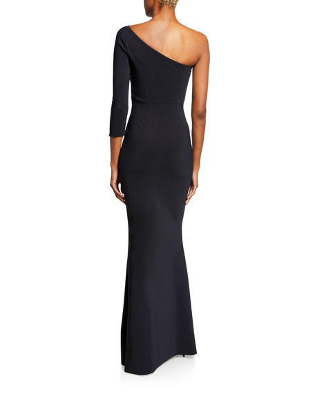Chiara Boni La Petite Robe Hedval One-Sleeve Column Gown